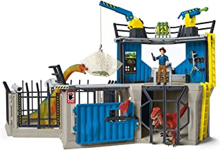 Schleich Toy Dinosaur Research Station 33-Piece Playset for Kids Ages 4-12