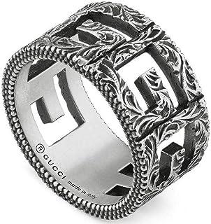 Gucci anello g cube fascia in argento
