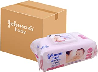 Johnson's Baby Skincare Wipes Fragrance Free, 75 ct (Pack of 12)