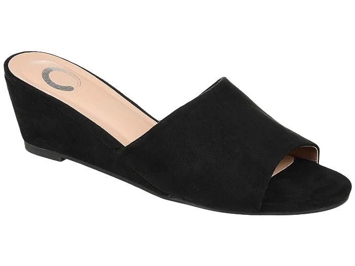 Vintage Nightgowns, Pajamas, Baby Dolls, Robes Journee Collection Pavan Slide Black Womens Shoes $54.99 AT vintagedancer.com