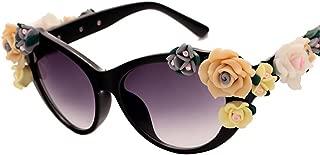 Vintage Baroque Flower Three-dimensional Rose Glasses Beach Vacation Sunglasses