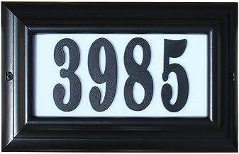 Qualarc Ltl-1301Bl-Pn Edgewood Grote Verlichte Adres Plaque In Zwarte Frame Kleur Met 4-Inch Zwarte Polymeernummers