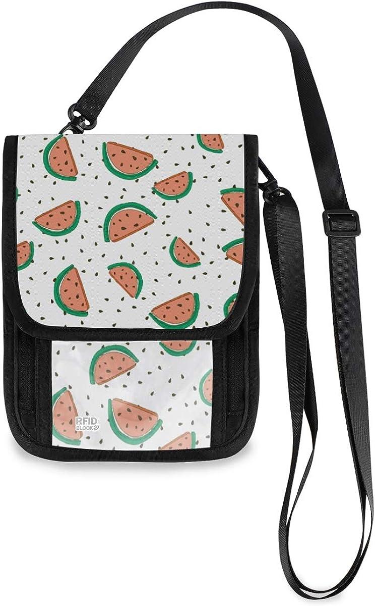 VIKKO Watermelon Seamless Travel OFFicial shop Neck With Blocking RFID Sacramento Mall Wallet