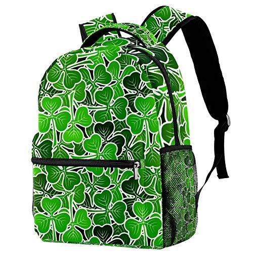 OKONE - Mochila de Viaje para Ordenador portátil, diseño de pictogramas Verdes