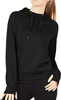 Workout Hoodie for Women - Athletic Running Pullover Long Sleeve Shirts with Pocket and Thumb Holes