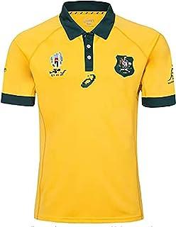 ラグビーチルドレン2019ワールドカップオーストラリアホームアンドアウェイゲームラグビージャージ、吸汗性、透湿性POLOシャツ