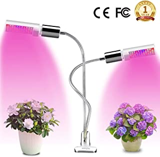 LED Grow Light for Indoor Plant, Winjoy Upgraded Full Spectrum Plant Light with Replaceable Bulb,Dual Head 45W Plant Grow Lamp with Flexible Gooseneck, Professional for Seedling Blooming Fruit …