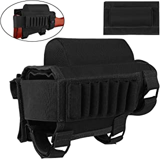 FUNANASUN Tactical Buttstock Cheek Rest with Rifle Shell Holder for 7.62.308.300 Winmag