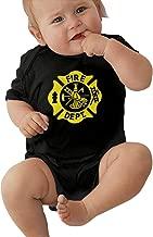 Tnghhg Unisex Baby Firefighter & EMS Jumpsuit Cotton Romper Short Sleeve Bodysuit One-Piece Suit