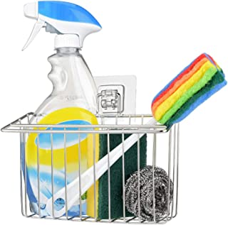 OIZEN Adhesivo Estante de Almacenamiento para Fregadero Organizador Sink Caddy Soporte para Utensilios de Cocina para el F...