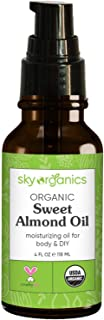 Sponsored Ad - USDA Organic Sweet Almond Oil by Sky Organics (4oz) Pure Cold-Pressed Almond Face Oil Moisturizing Oil for ...