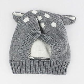 JJSPP Winter Cute Ears Baby Hat Cap Knit Soft Beanie Children Kids Hat