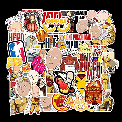 XXCKA 49 Pegatinas Impermeables de Dibujos Animados de Anime One Punch Superman, Maleta, Maleta, monopatín, Cuaderno, Pegatinas de Graffiti