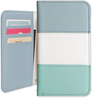 Sony Xperia XZs SO-03J ケース 手帳型 かわいい カード収納 マグネットなし 人気 カバー (ブルー×グリーン) DoCoMo ドコモ