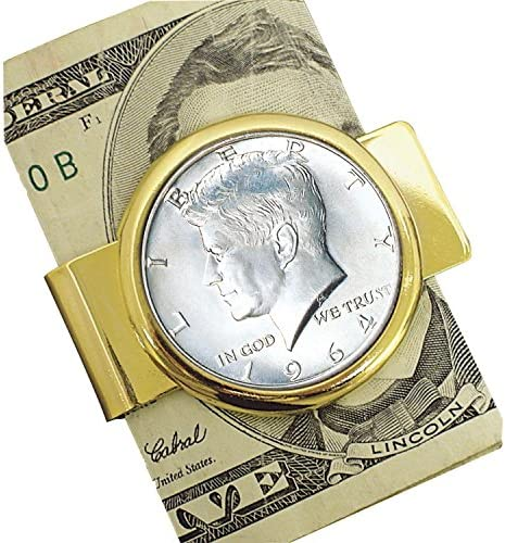 Goldtone First Year Ranking TOP2 of Issue Product Silver Half JFK Clip Dollar Money
