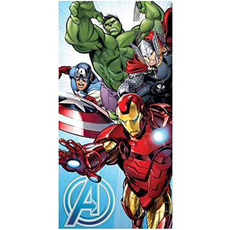 Jerry Fabrics - Toalla de Los Vengadores de Marvel, color azul