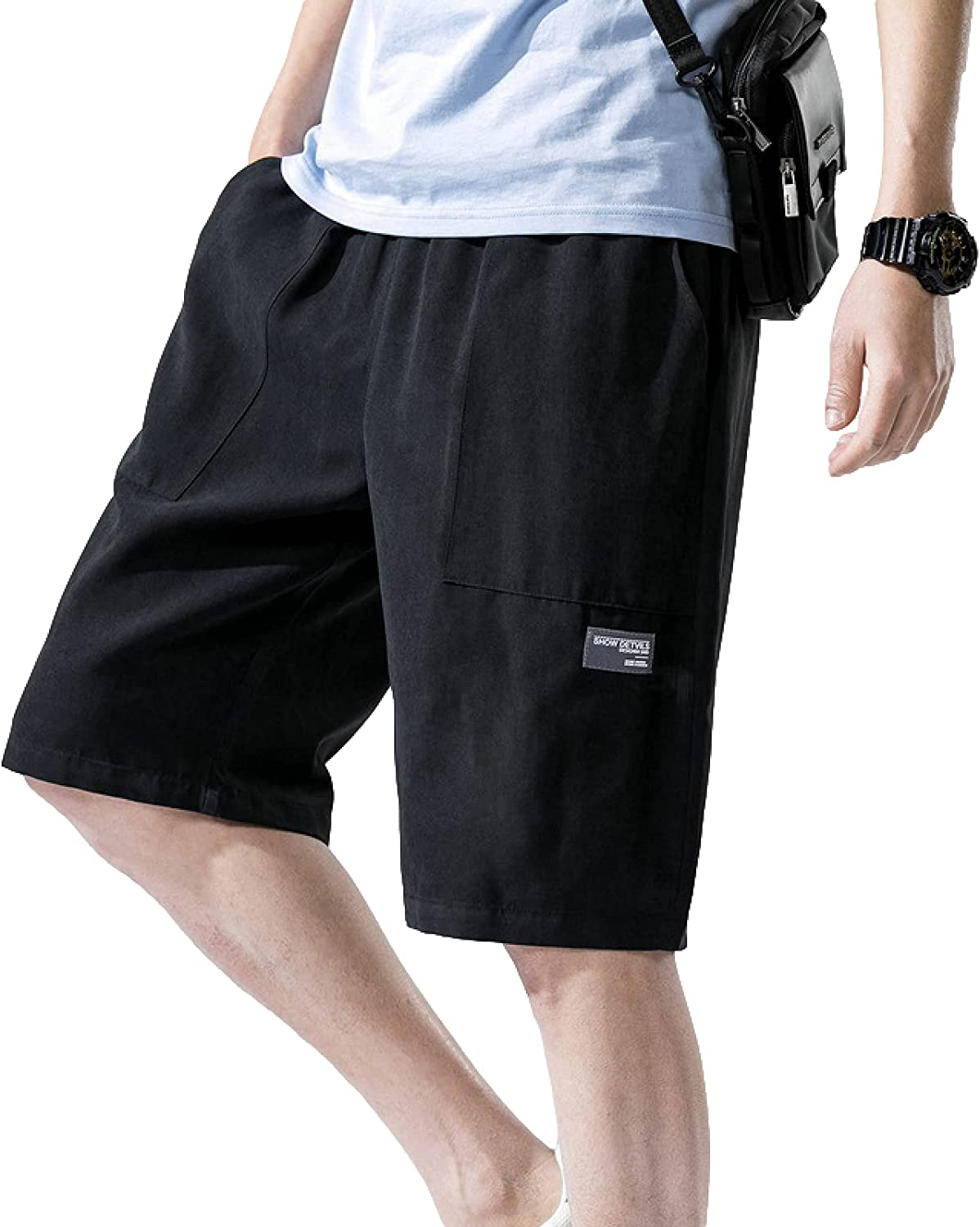 Men's Beach Shorts Large Size Loose Streetwear Comfortable Casual All-Match