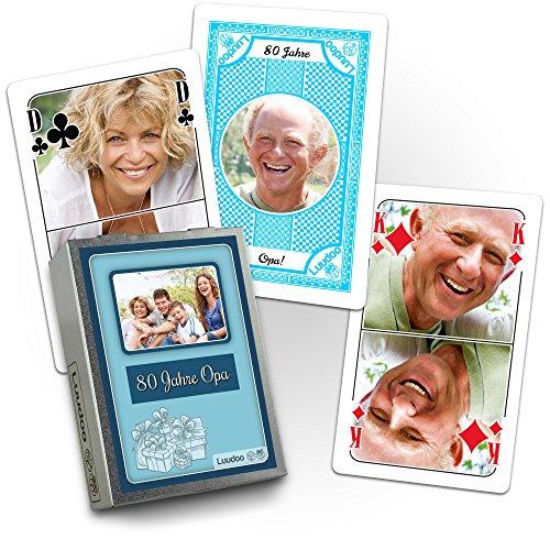 Foto-Rommé in personalisierter Blechschachtel (Canasta, Doppelkopf)