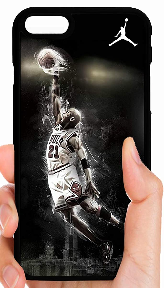 Jordan Flying High Abstract Black Background Jumpman 23 Phone Case Cover - Select Model (iPhone 8 Plus)