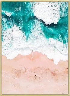 Garneck Sea Canvas Painting Ocean Beach Seascape Print Wall Art Picture Framed Modern Home Living Room Bedroom Office Deco...