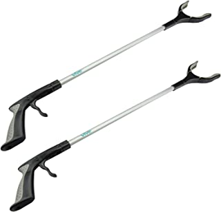 "Vive Reacher Grabber - 32"" Extra Long Mobility Aid - Rotating Hand, Heavy Duty Grip Arm - Reaching Assist Tool for Trash Pickup, Litter Picker, Garden Nabber, Disabled, Handicap Arm Extension (Two)"