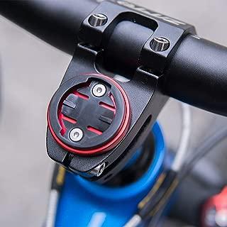 CYSKY Garmin Edge Mount, Bike Stem Top Cap Holder for Garmin Bryton Cycling GPS Computer, Fit Garmin 1000,820,810,800, 520,510,500,200 and Bryton 530 330 310 100 (Black/Red)