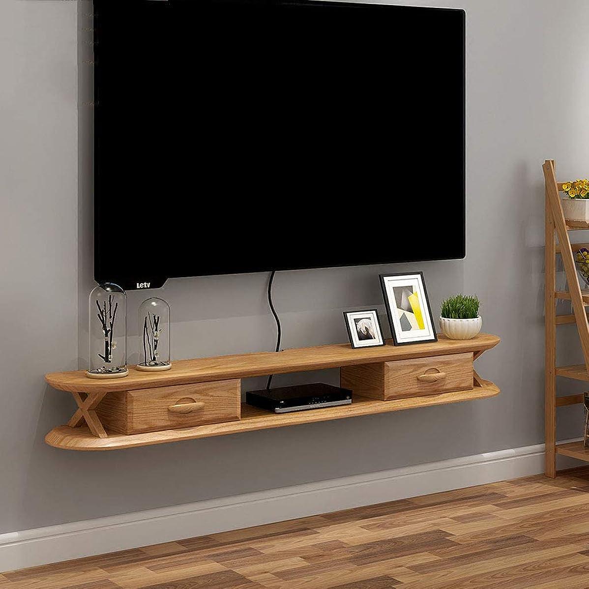 フライカイト肥満ラグFU HOME TVコンポーネント用フローティングシェルフウォールメディアコンソールTVスタンドシェルフDVD Blu-rayプレーヤー衛星放送TVボックスケーブルボックス (色 : Brown)