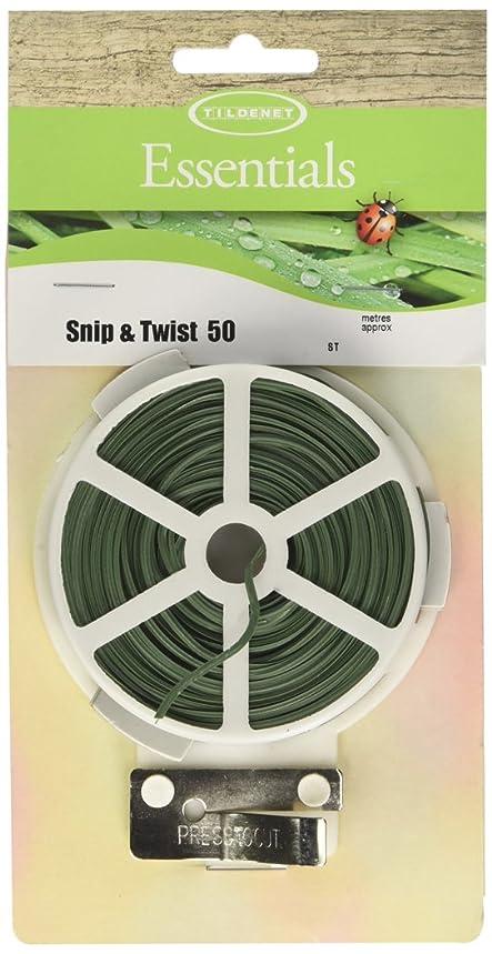 Tildenet 50m Snip and Twist Plastic Covered Wire Ties