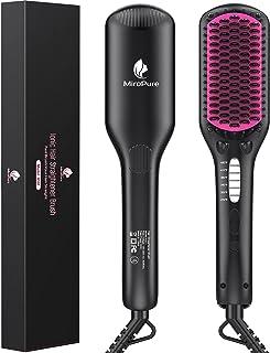 برس صاف کننده مو ، برس صاف کننده ضد زخم MiroPure Ionic با گرم کردن سریع سرامیک MCH ، دمای قابل تنظیم ، خاموش شدن خودکار