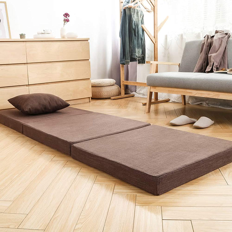 Foldable Sleeping pad, Tatami Mattress, Removable wash Thick Multi Layer Memory Foam Soft Single Reversible Floor mat-D 60x200cm(24x79inch)