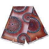 Afrikanischer Stoff, blau-braun, Traumfänger, Wachstuch