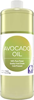MD. Life Avocado Oil for Hair - 32oz - 100% Pure Avocado Oil for Skin and Cooking – Food Grade High Heat Cooking - Body Oi...