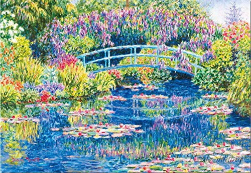Claude Monet Water Lilies Nature Full Round 5D DIY Diamond Painting Kits for Adult