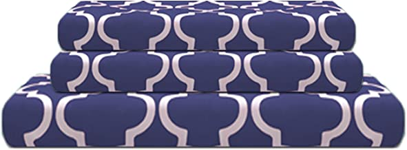 Superior 100% Cotton Trellis Geometric Bedding, 3 Piece Reversible Duvet Cover Set, Soft and Breathable Cotton Bed Set, 30...