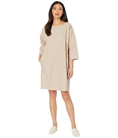 Eileen Fisher Ballet Neck Short Dress (Bramble) Women