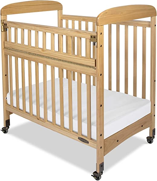 Child Craft Avery SafeAccess Portable Non Folding Compact Wood Crib Natural