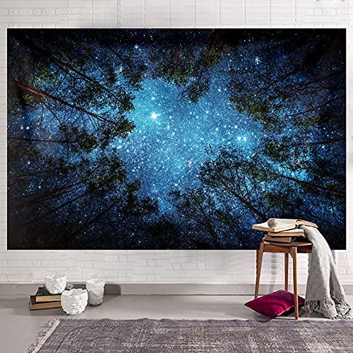 Tapiz de árbol de bosque tapiz para colgar en la pared tapiz de ropa de cama pintura al óleo paisaje de la manta de playa para dormitorio sala de estar Decor de pared 230x180 cm