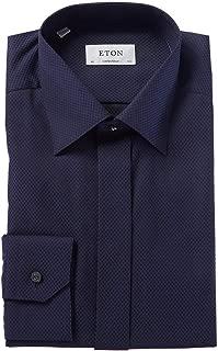 Mens Contemporary Fit Dress Shirt, 39, Blue