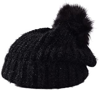 Amazon.es: gorros de lana con pompon - Negro / Gorros de punto ...