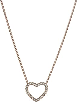 Vintage Glitz Open Heart Necklace