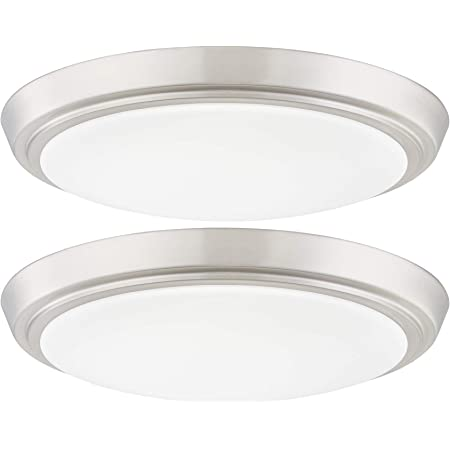 Lb72118 Led Flush Mount Ceiling Light 12 Inch 15w 150w Equivalent Dimmable 1200lm 3000k Warm White Brushed Nickel Round Lighting Fixture For Kitchen Hallway Bathroom Stairwell Amazon Com