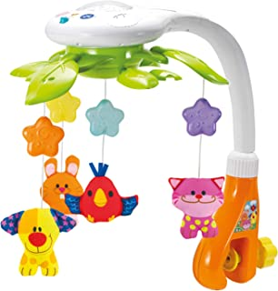KiddoLab Baby Crib Mobile with Lights and Relaxing Music. Includes Ceiling Light..