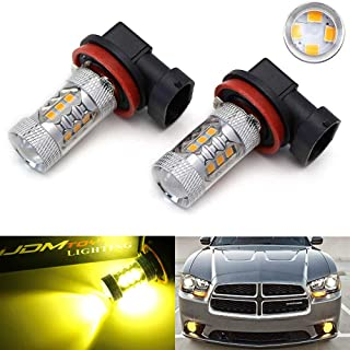 iJDMTOY (2) Selective Yellow 3000K 80W High Power CREE H8 H11 LED Replacement Bulbs For Fog Lights, Driving Lights