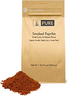 Smoked Paprika (1 lb) by Pure Organic Ingredients, Eco-Friendly Packaging, Gluten-Free, Spice & Seasoning, Cool, Smoky, & Mildly Spicy Flavor (Also in 8 oz)