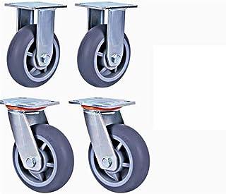XINKONG 4 stks Meubelwielen 6 Inch Silent Casters Flatbed Trolley Universele Wiel Kantoor Meubels Universele Wiel Heavy Du...