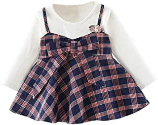 FCQNY Spring-Autumn Teen Girls Coat Long Sleeve Striped Shirtdress Girls Tops Sets