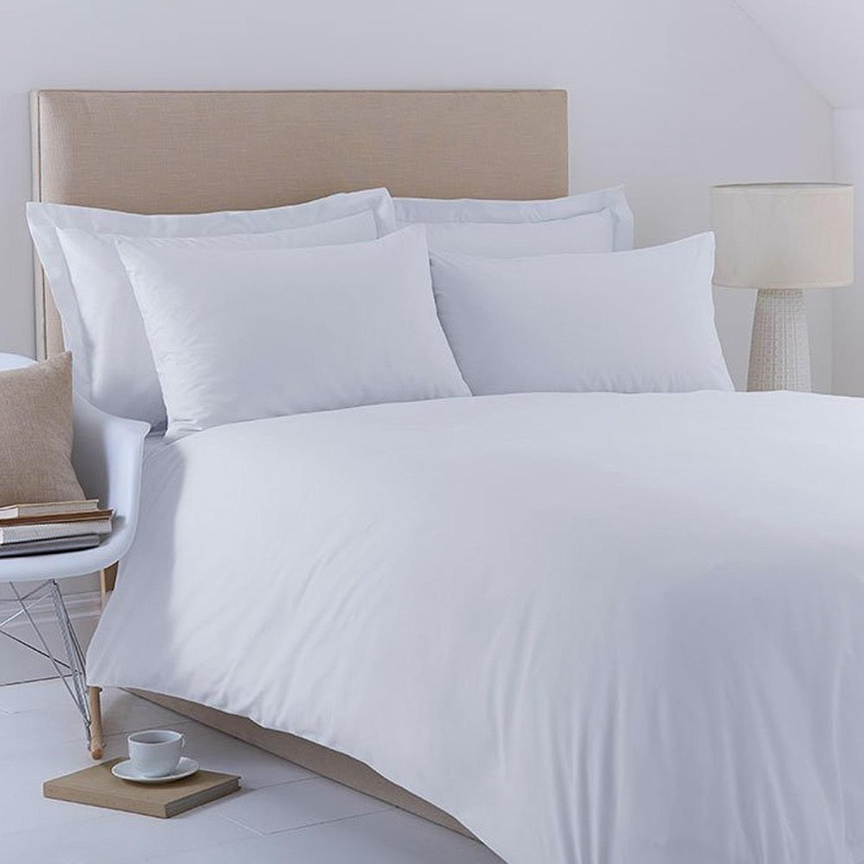 HLS Bedding Charlotte Thomas Poésie Uni Parure de Housse de Couette + 2Taie d'oreiller, Blanc King Taille