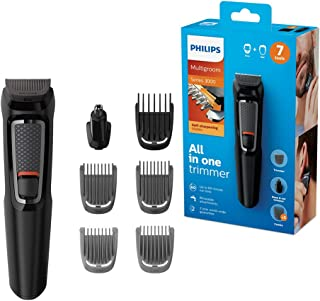 Philips MULTIGROOM Series 3000 MG3720/33 cortadora de pelo y maquinilla Negro Recargable - Afeitadora (Negro, Rectángulo, 9 mm, Nariz, Acero inoxidable, 60 min)