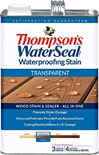 Thompsons Waterseal 41841 1 Gl Transparent Acorn Brown WaterSeal Waterproof Stain