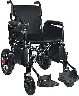 Sillas de ruedas eléctricas para adultos Silla de ruedas de rehabilitación médica, silla de ruedas, silla de ruedas plegable Accionamiento eléctrico ligero, Sillas de ruedas motorizada Scooter Conveni